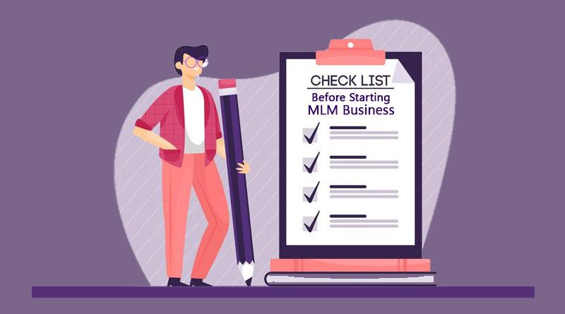 Checklist before starting MLM